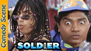 Superhit Comedy Scene - Soldier Movie  - Bobby Deol - Preity Zinta - Johnny Lever -  Indian Comedy