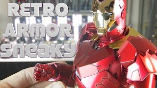 """Hot Toys Retro Armor Mark 15 """"Sneaky"""" Iron Man 3 suit unboxing."""