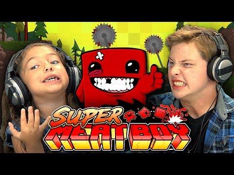 KIDS PLAY SUPER MEAT BOY Kids React Gaming