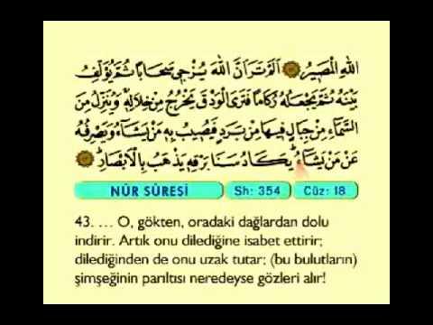 024. Nur Suresi ( Işık ) - Kur'an-ı Kerim  - ( The Light ) - The Noble Qur'an