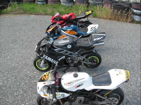 MINI MOTO 50 cc vs. 600 cc Crazy Minibike Stunts and Race MINIBIKE world GP