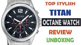 New Titan Wrist Watch Model 9323SM06 Octane Chronograph Analog Features