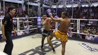 Bono (Sinbi Muay Thai- Red corner) fights at Bangla Stadium- 26.4.2017