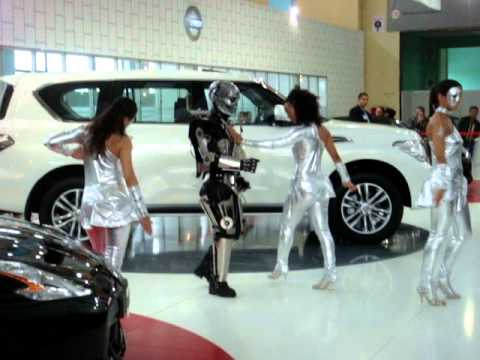 Sexy girls dance black eyed peas nissan cars Algeria algiers alger