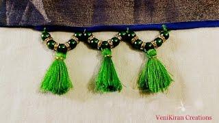 How to Make Saree Tassel/Kuchu design with Beads