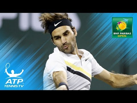Xxx Mp4 Record Breaking Federer Delightful Del Potro Day 10 Indian Wells Highlights 3gp Sex
