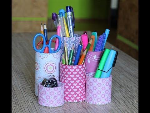 Как сделать подставку для ручек своими руками