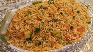 ألذ أرز مغربي بالخضر بسيط و سريع التحضير