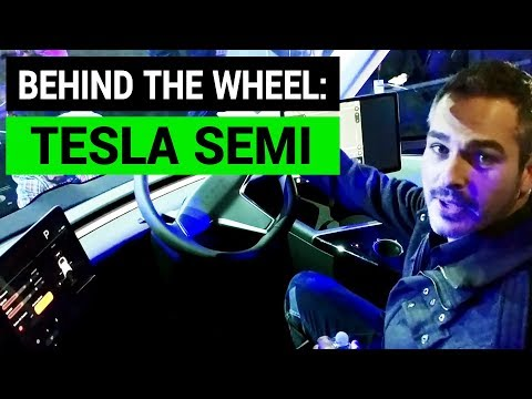 Behind the Wheel of Tesla Semi Truck