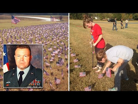 Xxx Mp4 Elementary Students Cover School Lawn With 10 000 Flags For Fallen Veterans 3gp Sex