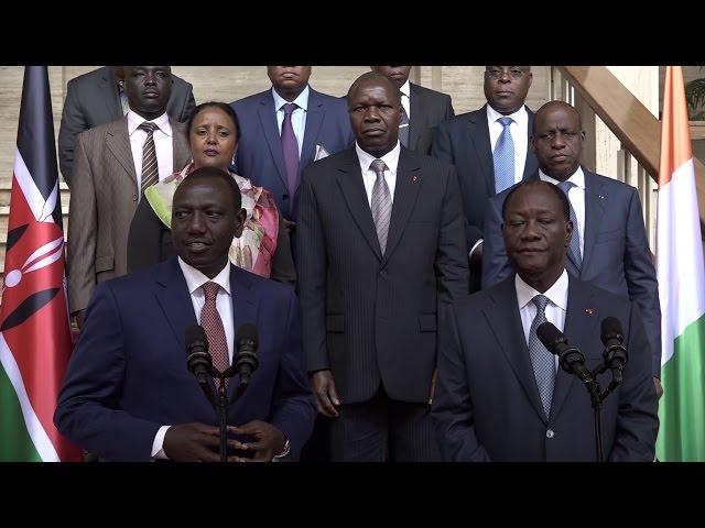 Kenya VP Ruto praises PR Ouattara's leadership