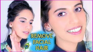 (DIY) How to Remove FACIAL HAIR Naturally at Home! Himani Wright (SIMPLE Homemade Mask)
