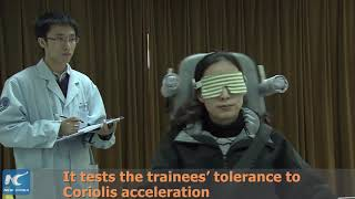 Rotation chair training for taikonauts