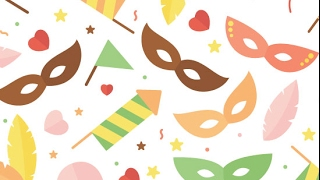 How to make a flat carnival pattern in Adobe Illustratror- Alba Zapata | Freepik