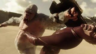 اقوه قتال بين الغوريلا و الرجل السريع ( Flash ) فلاش - حماس HD !