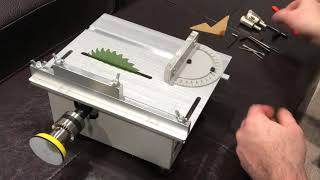T5 Mini precision Table Saw Unboxing