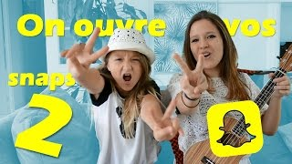 ON OUVRE VOS SNAPCHATS 2 // Sat'n'Co