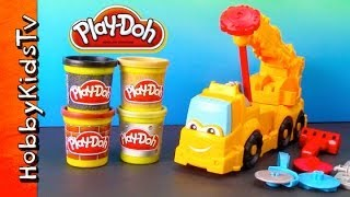 PLAY DOH Buster Crane, Mater and Rowdy - Chuck the Truck Friend Diggin Rigs - Review and Play