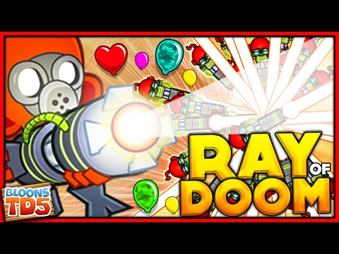 THE RAY OF DOOM ONLY CHALLENGE & HACKING A 4 4 ULTRA GUN in BTD 5 Bloons Tower Defense 5