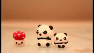 ◕‿◕ Kawaii Friday 3- Panda! (Polymer Clay tutorial)
