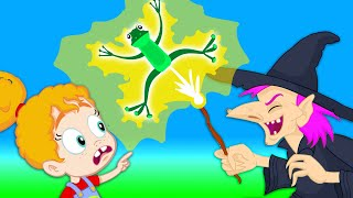 Groovy The Martian & Phoebe - Halloween mission: save the kids out of an evil witch!