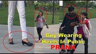 Boy Wearing HEELS In Public [] Pranks In India [] Amazing reaction 2017