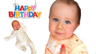 1 Year in 100 SECONDS | First Year of Baby's Life from Birth