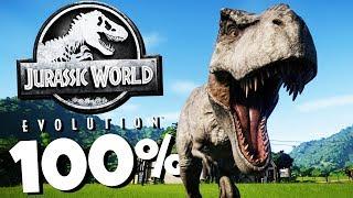 100% T REX GENOME! - Jurassic World Evolution Gameplay
