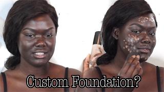 Custom Foundation From An App   MatchCo   Dark Skin    NYMA TANG