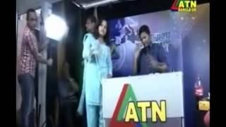 ATN Bangla Uk's live news opening ceremony news reported by Monir Uddin in June 2012