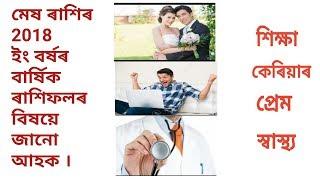 Assamese Rashifal by ASTRO BRAHMA/Apunar 2018 Barxa Fal janak (মেষ ৰাশি)/astr top/video22#