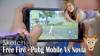 Free fire - Pubg mobile Vs Novia Intensa