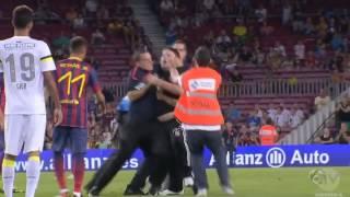 محاولة ضرب نيمار من قبل احد المشجعين