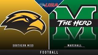 Southern Miss vs Marshall - College Football Hype   Stadium