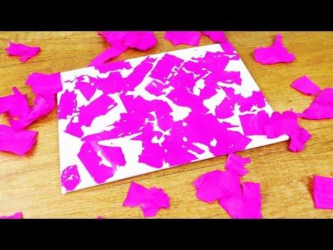 Krepppapier Experiment auf Leimwand | Tolle Deko Bilder ganz einfach selber machen | DIY