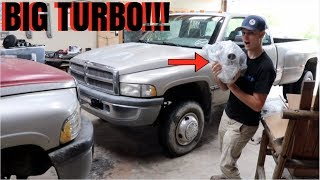 NEW BIG TURBO FOR THE CUMMINS DUALLY BUILD!!!!