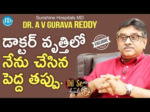 Xxx Mp4 Sunshine Hospitals MD Dr A V Gurava Reddy Exclusive Interview Business Icons With IDream 17 3gp Sex