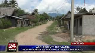 Menor de 14 años fue violada por 10 sujetos en San Martín