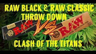 FULL MELT FUSION - RAW BLACK UNBOXING - RAW BLACK VS RAW CLASSIC & THE THINNEST ROLLING PAPER EVER!