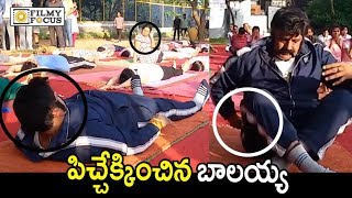 Balakrishna Most Funny Yoga : Hilarious Rare Video - Filmyfocus.com