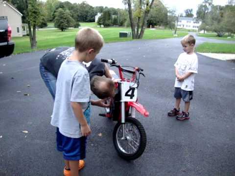 The boys got a razor mx500 dirt bike