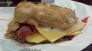 KFC Double Down eaten in 28 Seconds!