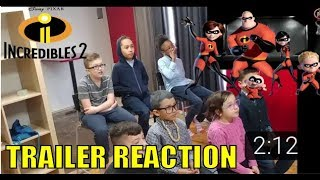 The Incredibles 2 Trailer Reaction from Happy Karate Kids