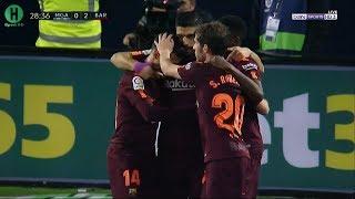 اهداف مباراة  مالاجا و برشلونة | 0-2  | الدوري الإسباني |  10-3-2018 | HD