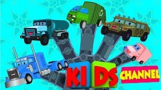 Trucks finger family | vehicle songs for kids | animated video