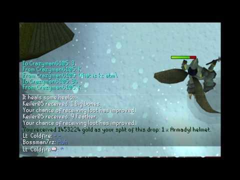 3BIL 3000M Godwars drop video Lt.  Coldfire runescape HD!!