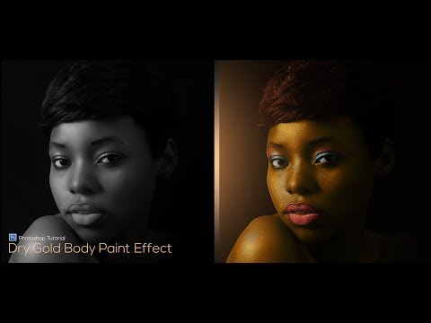 Xxx Mp4 How To Make Gold Body Paint In Photoshop 3gp Sex