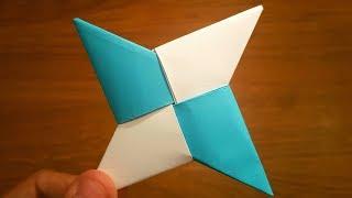 How To Make a Paper Ninja Star (Shuriken) - Origami | Remake