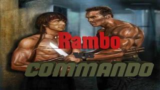 Rambo (Stallone) vs Commando (Schwarzenegger)
