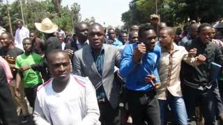 Univesity students demonstrate against delayed release of funds by Higher Education Loans Board